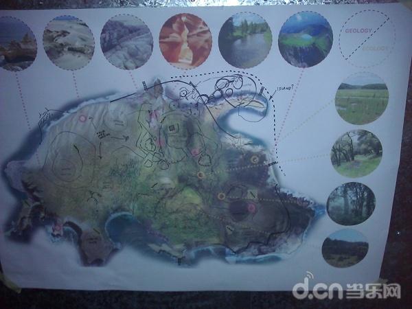 2011年,《目击者》岛屿的艺术概念设计图