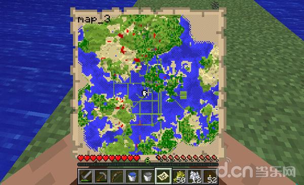 Minecraft宇宙浩瀚无边,有了地图妈妈再也不用担心我迷路了
