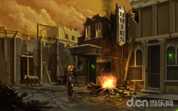 破落、孤寂的城市