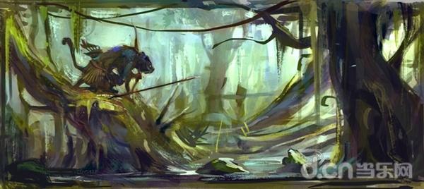 场景概念图:森林