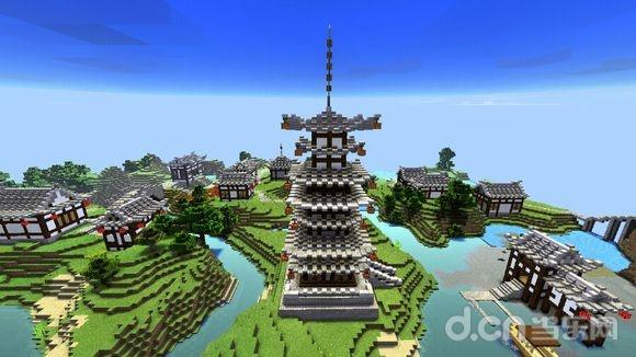 《我的世界手机版》湖畔山村地图存档