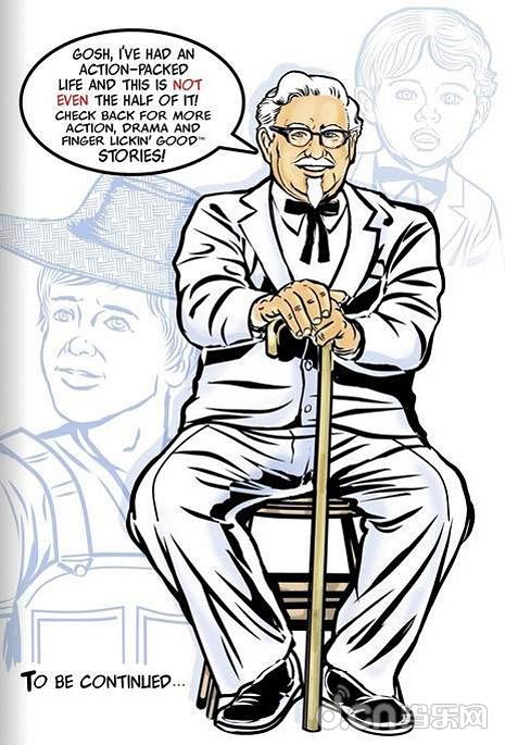kfc老爷爷当主角 惊人自传改编漫画《桑德斯上校历险