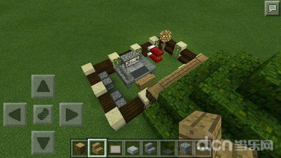 《我的世界手机版》带花园的树叶顶房子建造教程攻略