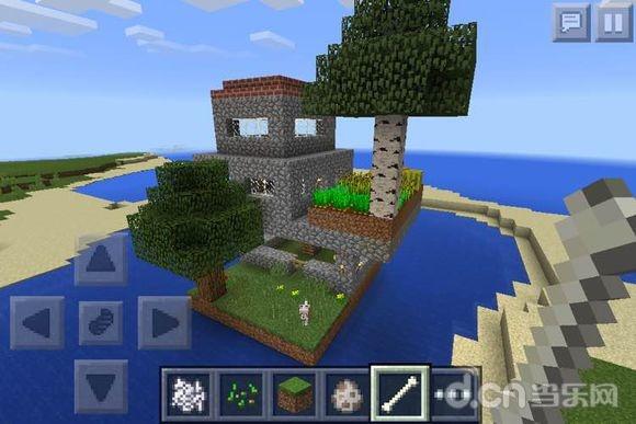 《我的世界手机版》水上花园房屋设计教程