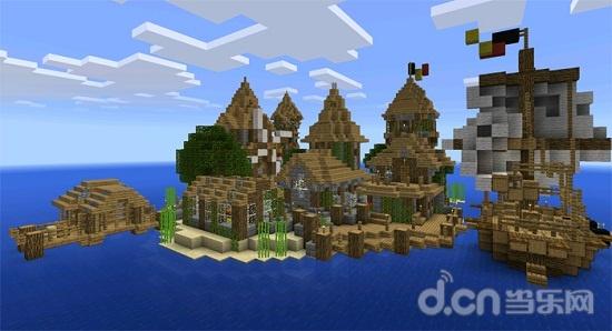 我的世界手机版建筑分享:中世纪岛村
