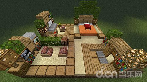 我的世界手机版房屋内部设计:卧室装饰方案