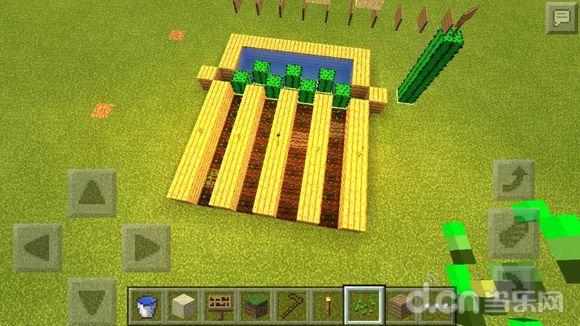 我的世界手机版半自动农田收割机制作教程
