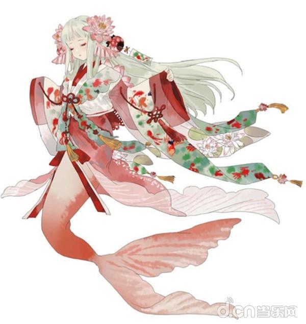 鲤鱼精-花塘莲鲤 点评:画师同上,粉嫩的小鲤鱼真可爱,看来这回走的是