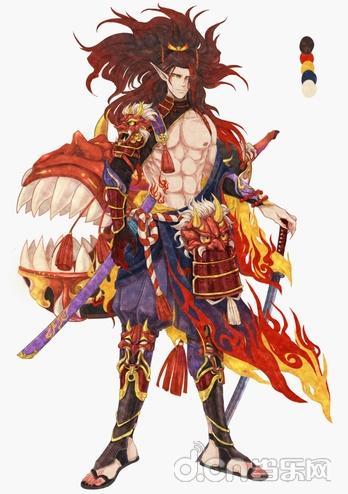 点评:超帅气的酒吞原创皮肤,结合了日本武士铠甲和火焰的概念,不过在
