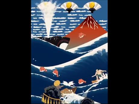 浮世绘冲浪